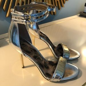 Sam Edelman Silver and Gold High Heels BRAND NEW